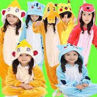 Costumes pour enfants carnaval d'halloween Kigu Pokemon Cosplay Pikachu Raichu Charmander Charmeleon Monferno Bulbasaur
