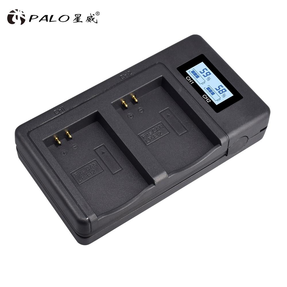LCD digital Charger+2Pcs 1800mAh LP-E12 LPE12 LP E12 Camera Battery AKKU for Canon M100D Kiss X7 Rebel SL1 EOS M10 EOS M50 DSLR