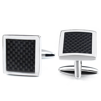 HAWSON - Carbon Fiber Cufflinks in Presentation Gift Box