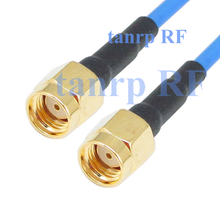 10pc 15CM coaxial Sexi Flexible blue jacket jump extension cable RG405 6in RP SMA male to RP SMA male plug RF 3G 4G router WIFI