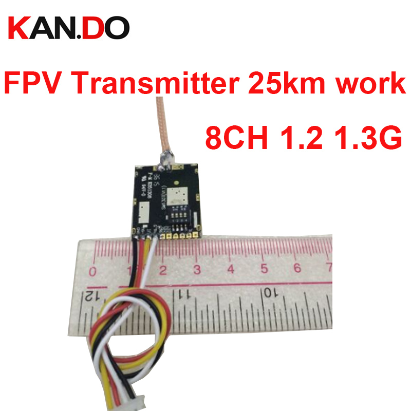 35km work 200mw 8ch 1.2G wireless transmitter 1.3G sender wireless CCTV 1.3G transmittion FPV sender drone transmitter FPV tx image