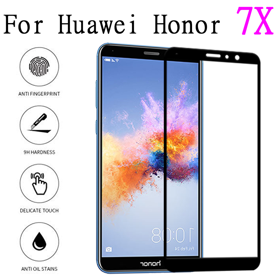 honer <font><b>7x</b></font> protective glass on for huawei <font><b>honor</b></font> 7 x <font><b>verre</b></font> screen protector <font><b>tremp</b></font> huavei huaweii x7 cam tempered glas x7 sheet film image