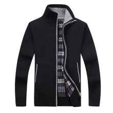 Новинка, 4XL 5XL, мужской свитер из флиса, Осень-зима, теплое кашемировое платье, тонкий толстый шерстяной свитер на молнии, Повседневный свитер, мужское вязаное пальто AF1383