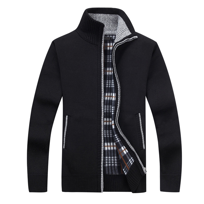 Новый 4XL 5XL Для мужчин s флис Sweate осень-зима теплые кашемировое платье Тонкий Жир шерсти на молнии свитер для повседневной носки Для мужчин вя...