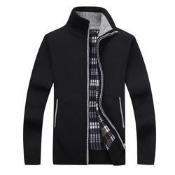Новый 4XL 5XL для мужчин s флис Sweate осень зима теплый кашемировый платье Тонкий Жир Шерсть Молния повседневные мужские свитера вязаное пальто