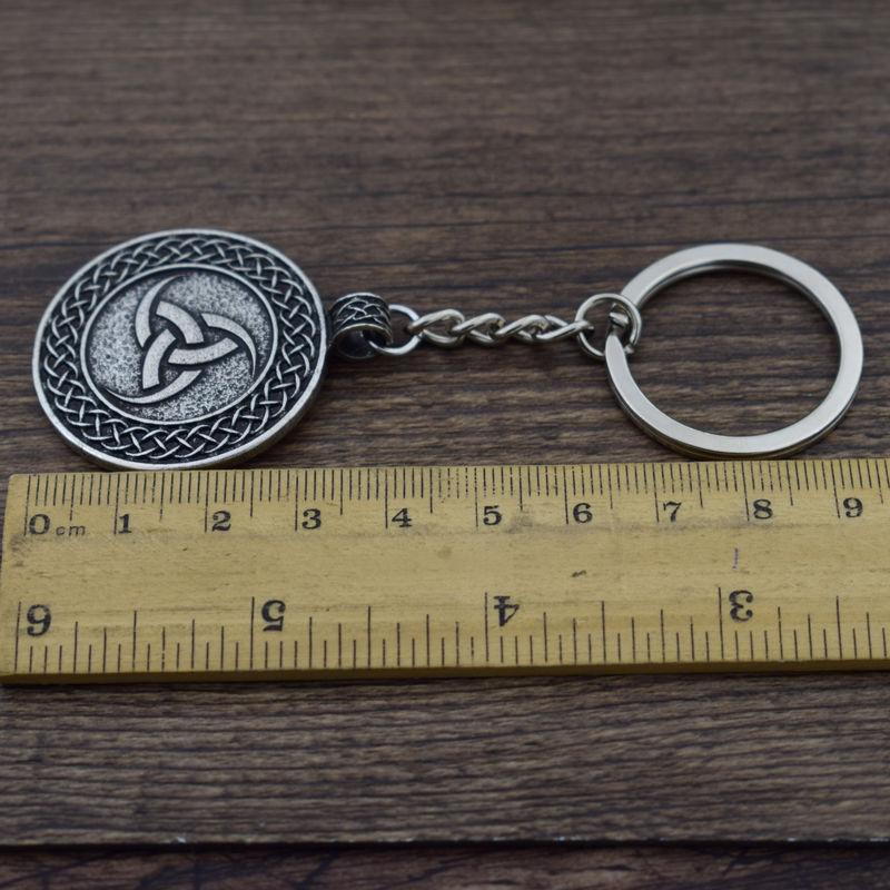 Sanlan Norway Viking Totem Valknut Odins Symbol Fly Dragon Key Pendant Talisman Keychain Amulet Gift Jewelry Jewelry & Accessories