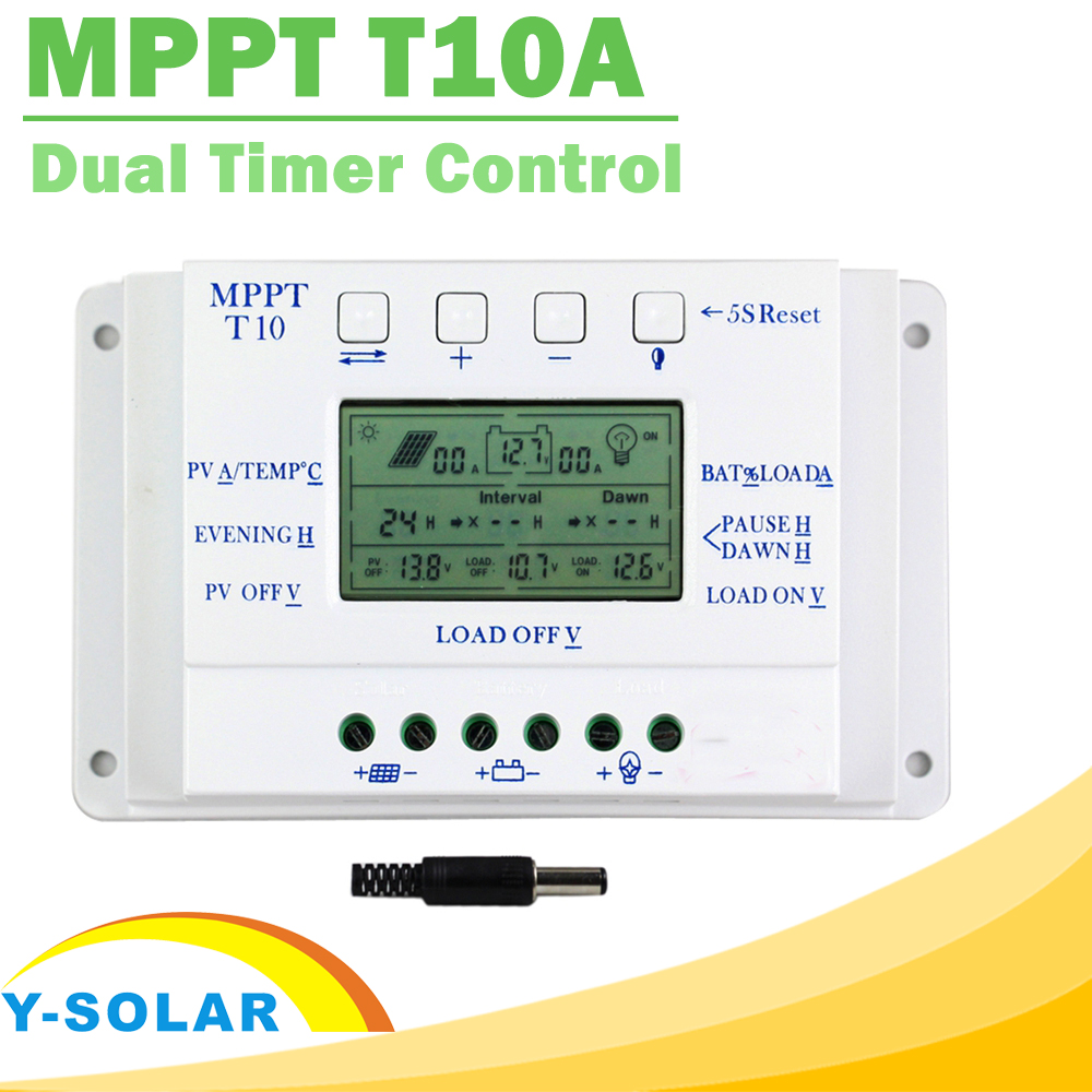 Solar Charge Controller 10a Mppt T10a 12v 24v For Max 48v Input With Specifics Load Dual Timer Control Regulator Street Lighting In Controllers From