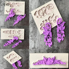 Flower Lace European  Lace Silicone Mold Fondant Cake Decorating Tools Chocolate Gumpaste Mould Bakeware Wedding Decor m1073 butterfly shaped fondant cake mold silicone mold lace pattern mould bakeware baking cooking tools sugar cookie decor