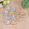 GRACEFUL 12 Pot Nail Art Gold Silver etiqueta decoración Paillette Flake Chip Foil Papel de Acrílico UV Gel Decoración AUG15
