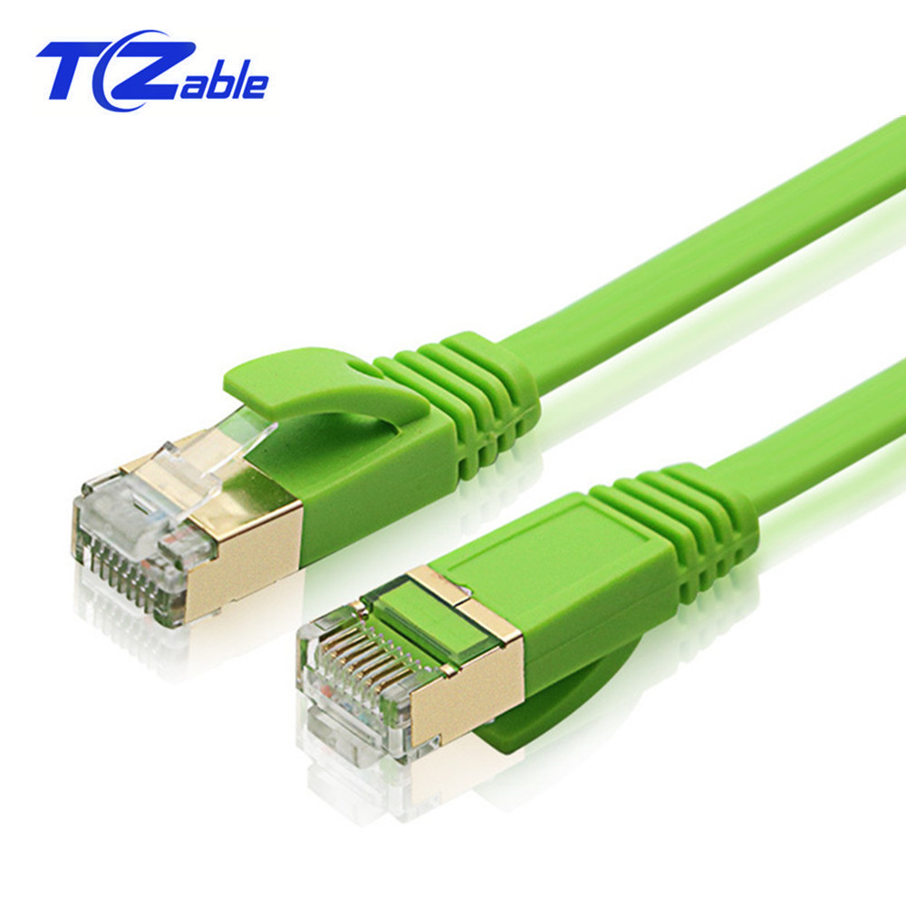 RJ45 Cat7 Ethernet Cable Green Flat Network Line UTP Extender Cable Ethernet For Notebook Router Digital Set Top Box Switch ADSL