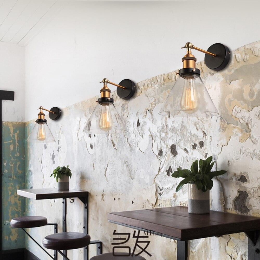 ΞModern Glass Wall Lamp Dining Living Room Wall Sconce Russia ...