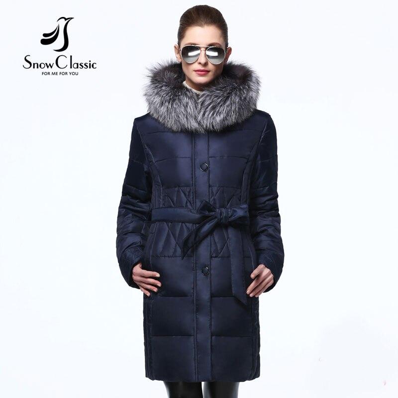 Snowclassic veste d'hiver femmes 7xl grande taille manteaux avec des Ceintures des femmes vestes d'hiver et manteaux 15315