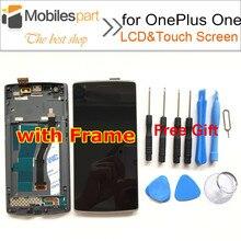 Экран для Oneplus One New Высокого Качества ЖК-Дисплей + Сенсорный Экран Замена с Рамкой Экрана Для Oneplus One Смартфон