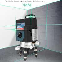 12 ligne 3D Niveau Laser Vert Niveau Laser 360 Graus Laser Niveau Profissional Livella Lasers pour profissional outils de construction