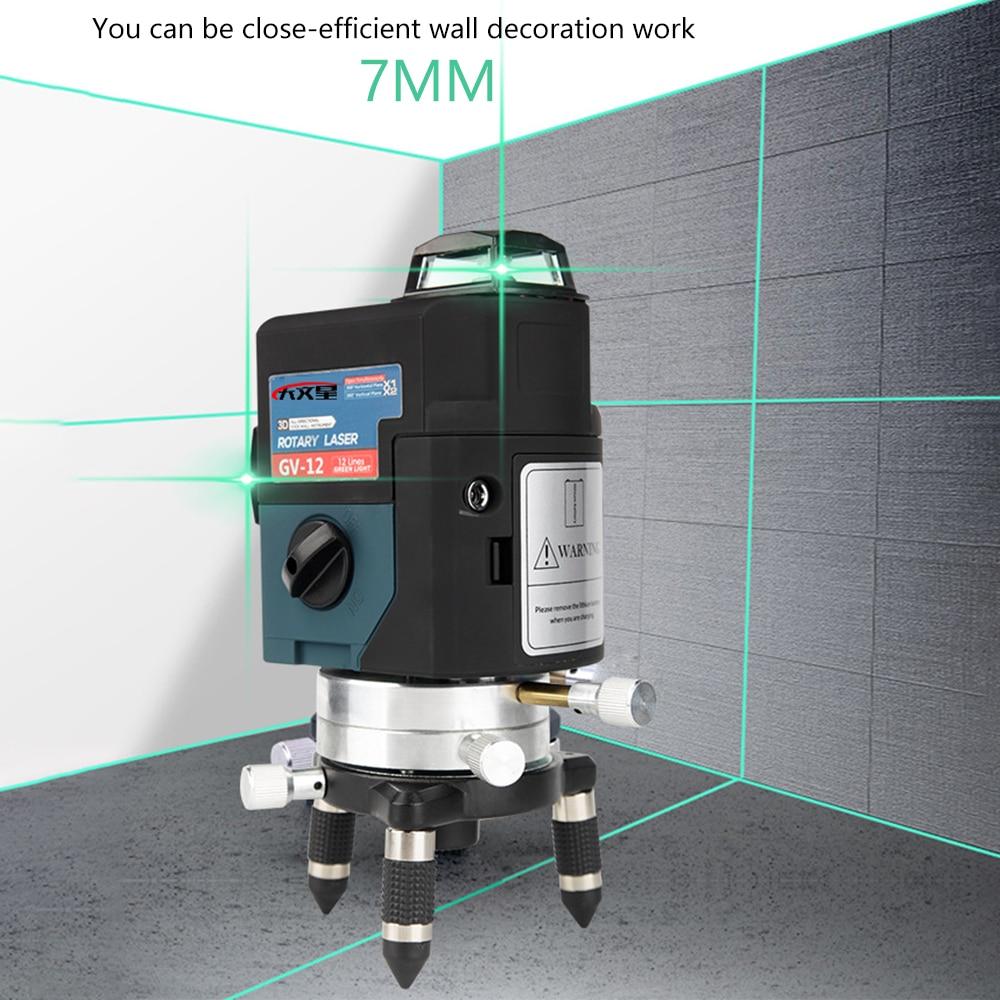 SYP004 3d laser level nivel a laser 12 linhas nivel a laser 360 graus verde nível do a laser lazer profissional auto nivelamento line cross nivel lazer construção civil ferramenta varal de led multiuso