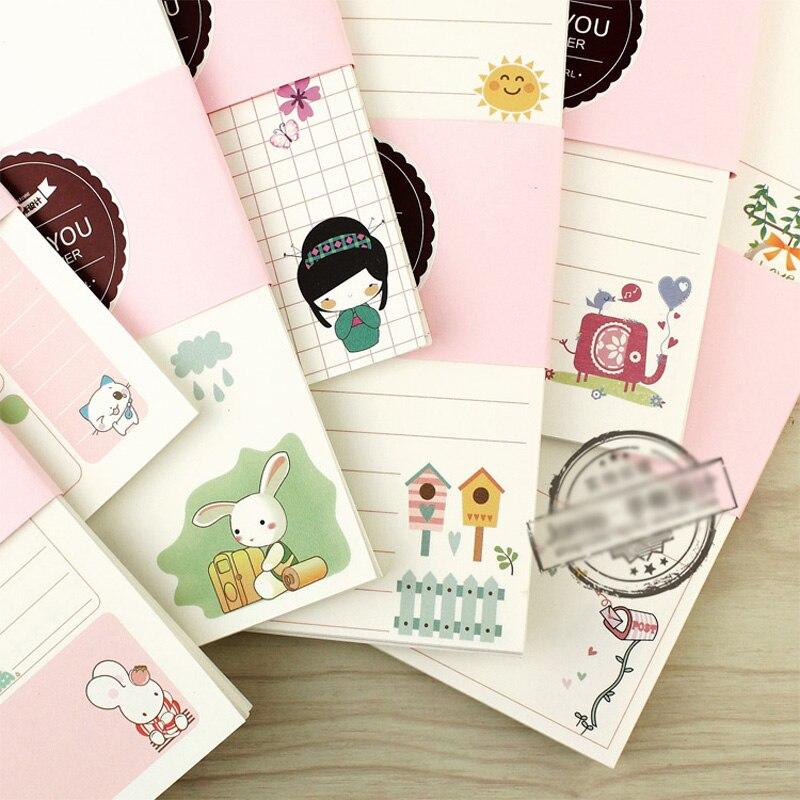 Linda chica serie cuaderno documentos A5 y A6 diario Color interior planificador de papel de relleno dentro de la página chicas regalos de papelería creativa