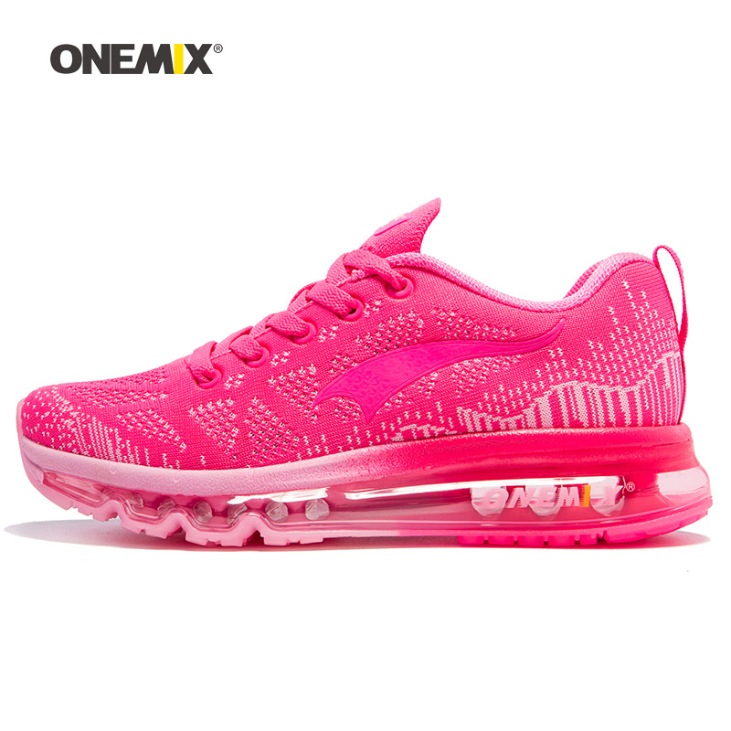 ONEMIX 2018 Women Running Shoes Athletic Trainers Woman Zapatillas Deportivas Sports Shoe Air Cushion Outdoor Walking Sneakers 7 цена