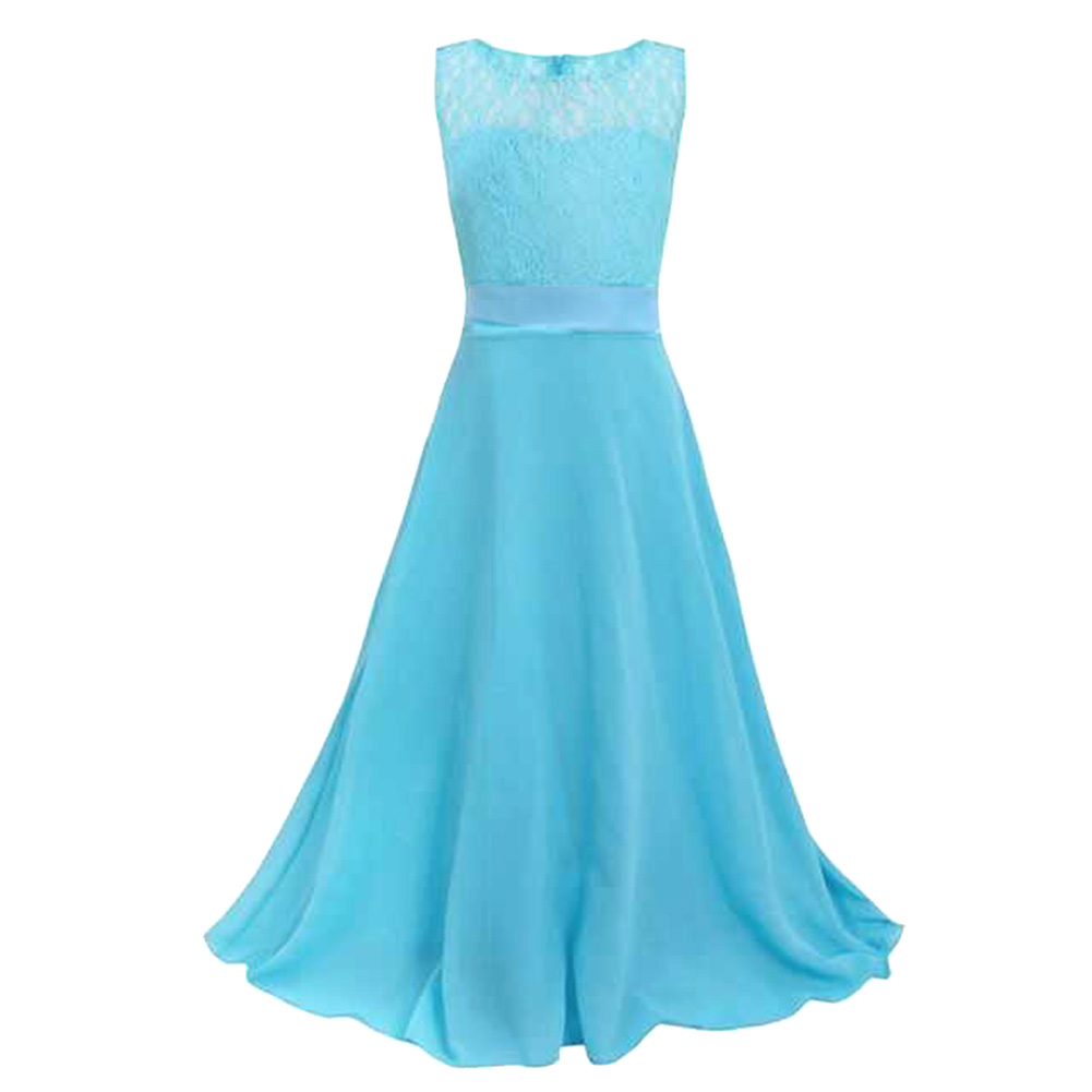 Online buy wholesale kids blue bridesmaid dress from china kids kids long bridesmaids graduation gowns teenage girls clothing 6 16years evening dresses children princess party ombrellifo Images