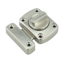 Stainless Steel Door Security Chain Guard Fastener Door Latch Locks for Home Safety WC Bathroom Door Lock W/Screw