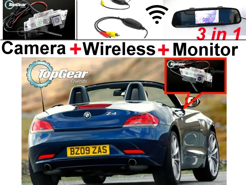 Специальная камера автомобиля + беспроводной сигнал + зеркало монитор легко DIY парковочная система 3в1 для BMW БМВ Z4 E89 2009~2014