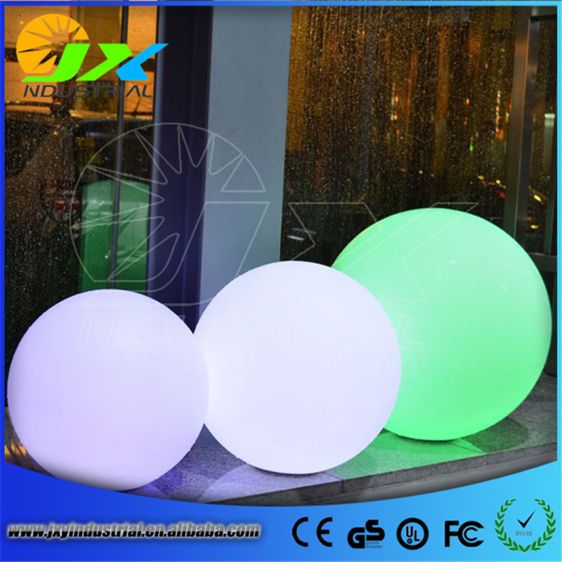 led rechargeable balls/ 35cm Wireless rechargeable waterproof led ball colorful light remote control outdoor&garden decoration,