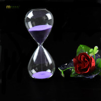 1PC 10 Colors 60 Minutes Awaglass Hand Blown Timer Clock Magnetic Hourglass Ampulheta Crafts Sand Clock