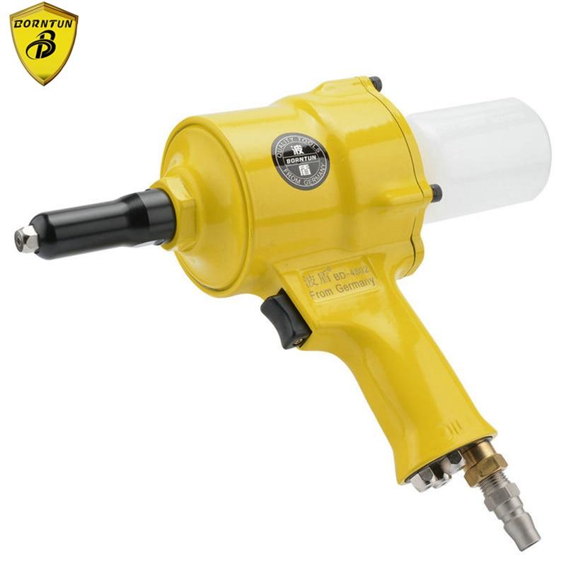цена на Borntun Pneumatic Air Riveter Riveting Pull Pliers Gun for Rivets 2.4mm 3.2mm 4.0mm 4.8mm Industrial Air Riveters Pulling Puller