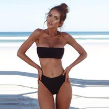 Popular Women Bandeau Bandage Bikini Set Push-Up Brazilian Swimwear Beachwear Swimsuit Summer Vintage Women's Swimsuits Biquini