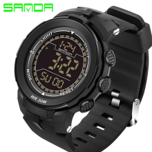 SANDA Mens Sports Watches Top Brand Luxury Dive Digital LED Military Watch Men Fashion Casual Electronics Wristwatches Clock Men javi brand sports watch men waterproof relojes para hombre dive 30m digital electronics wristwatches hot clock fashion 4 color