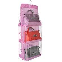 6 Grids Closet Organizadores Case Durable Door Women Handbags Exquisite Hanging Bags Organizer Wall Storage Bag