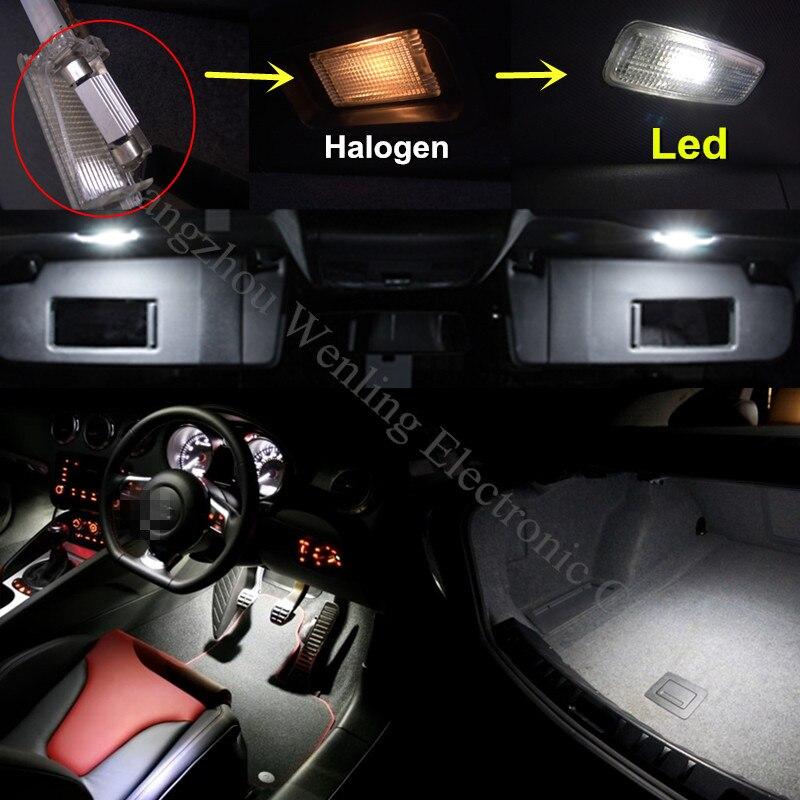 WLJH Lot de 10 ampoules LED Super lumineuses Canbus sans erreur 2835 puces pour int/érieur de voiture pour Tiguan 2009-2013