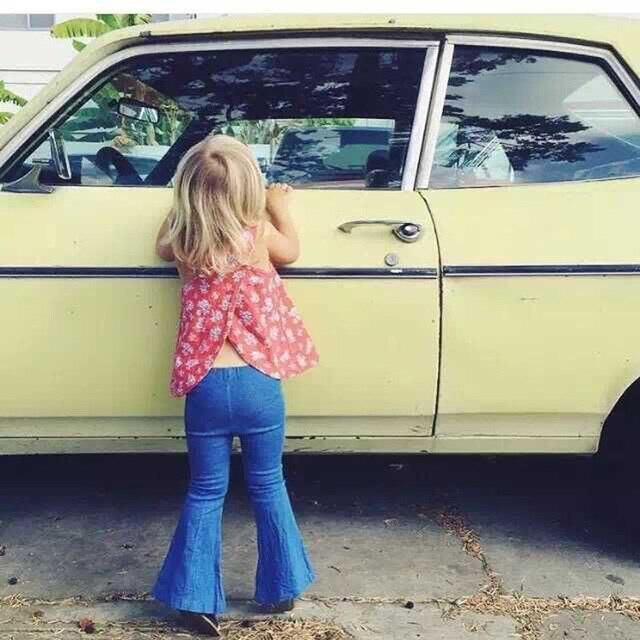 Pantalons en Denim pour filles   Pantalons mode pour enfants, Jeans bleu Style cloche pour filles, pantalons décontractés pour enfants, nouvelle collection