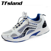 New Men Summer Style Mesh Splicing Shoes Male Lace Up Leisure Flat With Light Weight Shoes