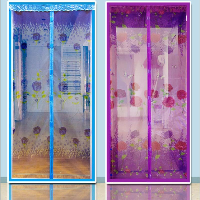 Hot Summer Magnetic Mesh Soft Screen Anti-mosquito Door Curtain Insect Fly Bug Protect Kitchen Window Organza Scree 4 Colors