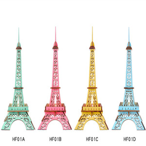 DIY Model toys 3D Wooden Puzzle-Little paris tower Wooden Kits Educational Puzzle Game Assembling Toys Gift for Kids Adult P9