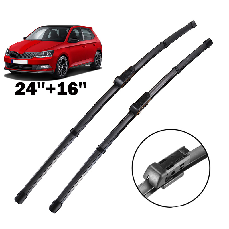 """16/"""" 24/"""" Quality Pair Of Front Max Wiper Blades For Car Windscreen Windshield"""
