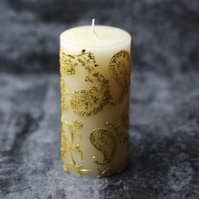 Nicole Silicone Candle Mold Cylindrical with Embossed Pattern Handmade Soap Mould