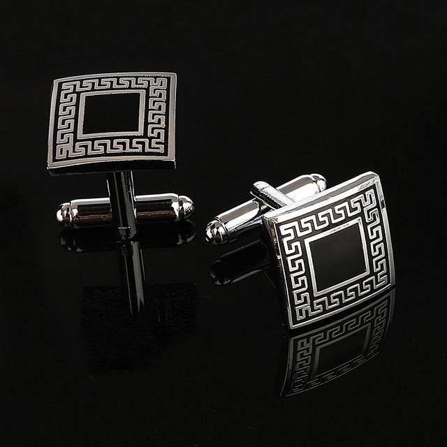 ZOSHI Luxury Laser pattern gemelos shirt cufflinks for mens Brand cuff buttons cuff links High Quality abotoaduras Jewelry