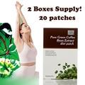 ( 20 peças ) Pure verde coffee bean extrato slimming patch perda de peso eficaz