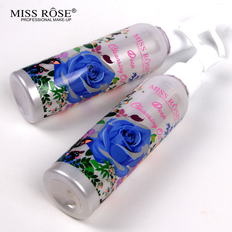 Miss Rose Makeup Remover Cosmetics Face Cleansing Oil 120ML Liquid Deep Cleansing Lotion Shrink Pores Lip Eye Clean Facial Care3