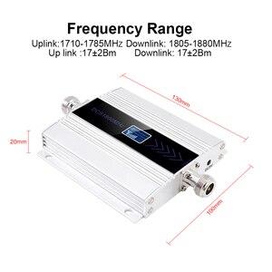 Image 2 - LCD תצוגת GSM משחזר 1800 Mhz 4G תא סלולארי אות מגבר booster DCS 1800 פנימי/חיצוני אנטנה