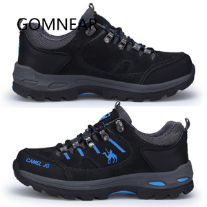 Image 2 - GOMNEAR Sneakers Hiking Shoes Men Outdoor Fishing Trekking Shoes Waterproof Tourism Camping Sports Hunting Shoes Leather Boots