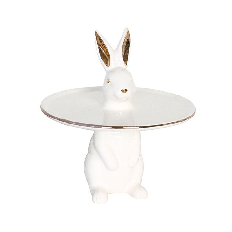 Nordic Home Furnishings European Creative Rabbit Storage <font><b>Small</b></font> <font><b>Tray</b></font> Key Desktop Jewelry Box <font><b>Decorative</b></font> Ornaments Home Decora