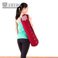 Hot Canvas Yoga bag gym mat bag yoga backpack Yoga Pilates Mat Case Bag Carriers for 6 10mm (Yoga mat not including)
