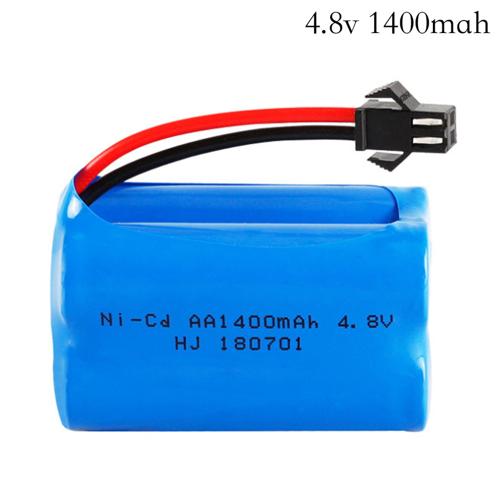4.8v 1400mah Ni-Cd Battery Nicd AA 4.8v Rechargeable Battery Pack For RC Cars 4.8v RC Boat Toy Battery 4.8 V 1400 Ni-Cd Battery