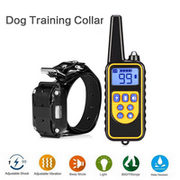 Electric Pet Dog Training Collar Waterproof Rechargeable LCD Display 800M Remote Control Dog Training Collar EU US UK