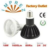 High Power White Or Black Housing Cree Led Lamp Par 38 18W Led Light 90 265v