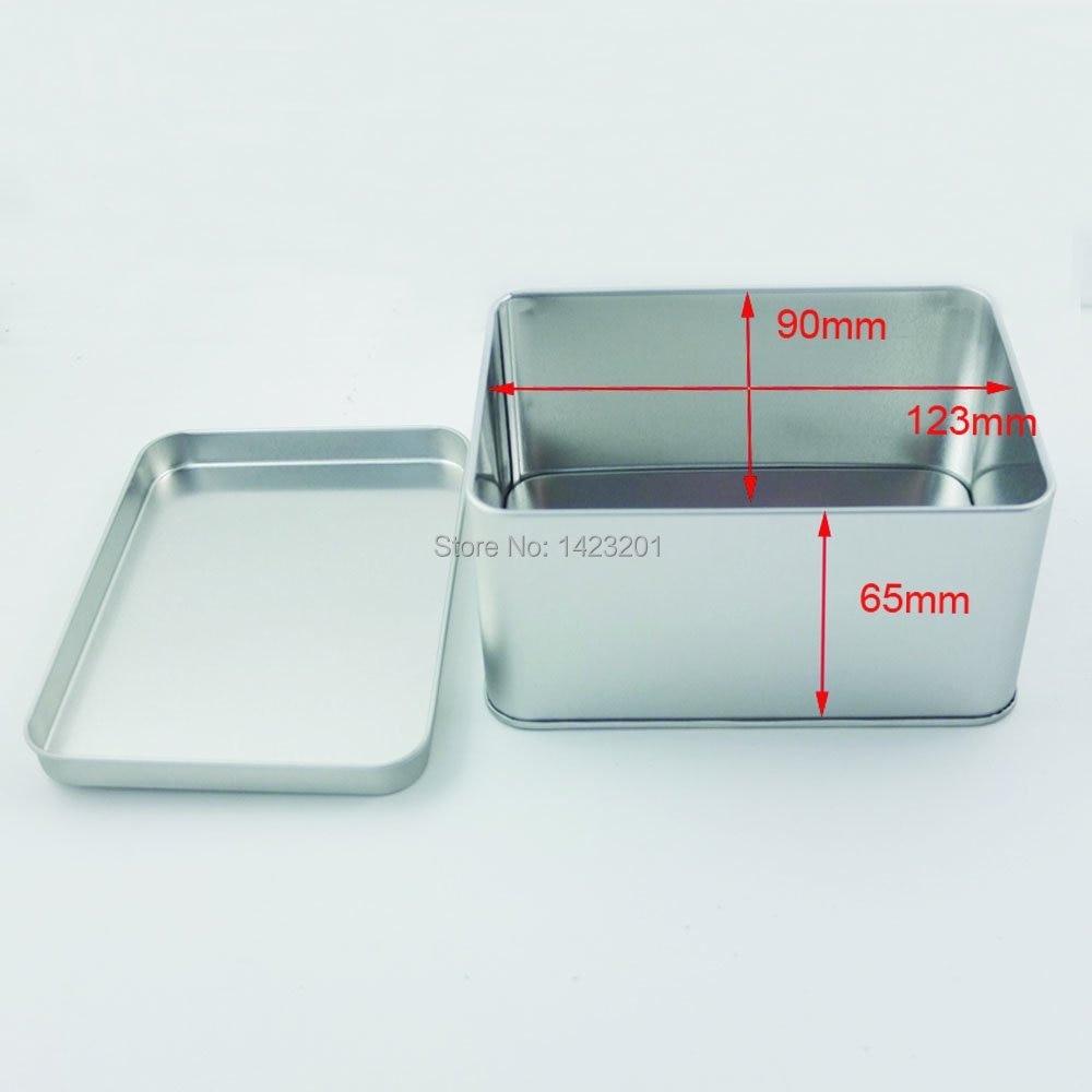2 Pcs / Lot Height 65mm Tinplate Iron Tin Storage Case Square ...