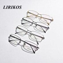 LIRIKOS Pure Titanium Anti-Corrosion Business Men Reading Glasses Clear Eye Lens male Spectacle Eyewear Four Colors