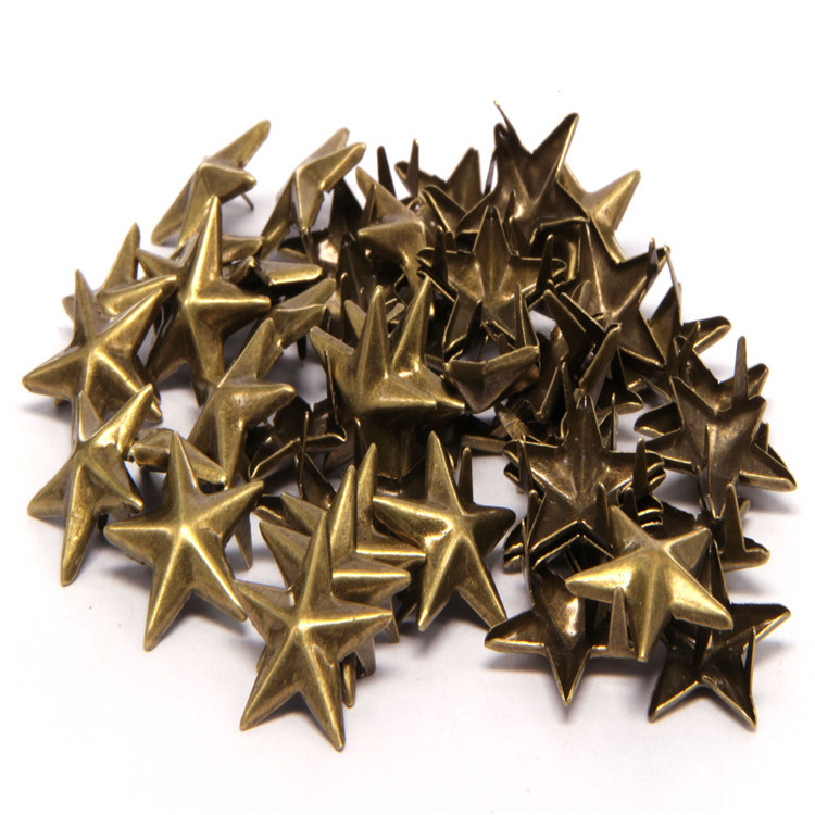 15mm Star Nail Rivet Jacket Shoes Bag Accessories DIY embellishments for Scrapbooking Brads Scrapbook Bronze gold sliver